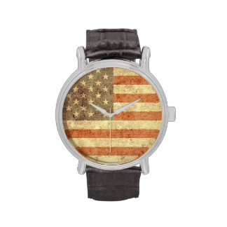 Usa Flag Wrist Watches