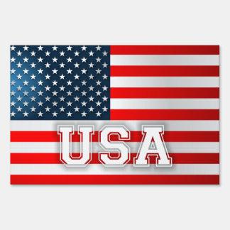 USA Flag Yard Sign