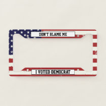 Usa Flag Your Text License Plate Frame