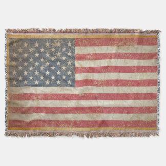 USA Flag Throw Blanket