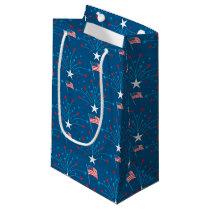 USA Flags and Fireworks Small Gift Bag