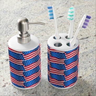 USA Themed USA flags Bathroom Set