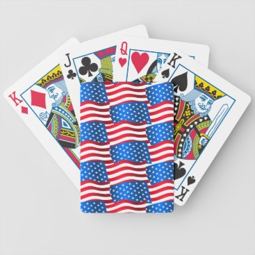 USA Themed USA flags Bicycle Playing Cards