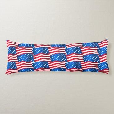 USA Themed USA flags Body Pillow