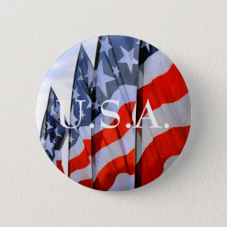 USA Flags Buttons