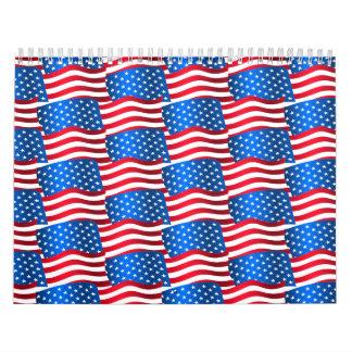 USA flags Calendar