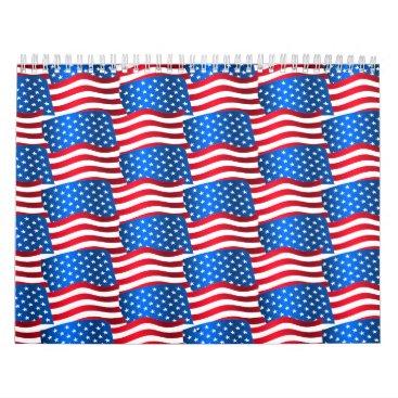 USA Themed USA flags Calendar