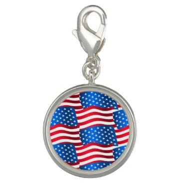 USA Themed USA flags Charm