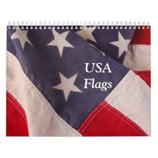 USA flags Custom Printed Calendar