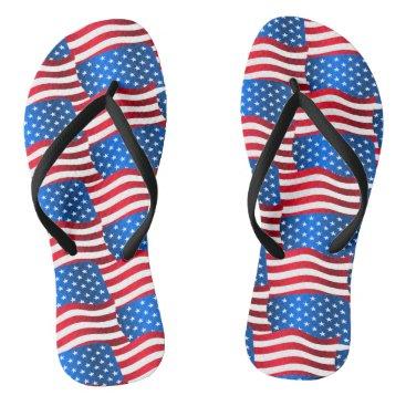 USA Themed USA flags Flip Flops