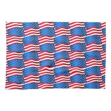 USA Themed USA flags Hand Towel