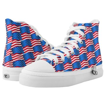 USA Themed USA flags High-Top Sneakers