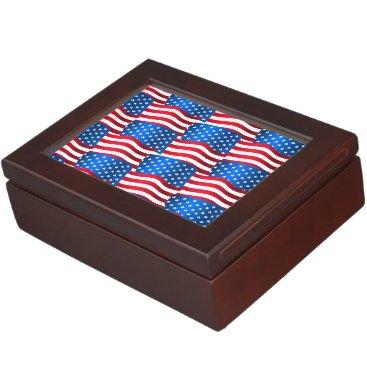 USA Themed USA flags Memory Box