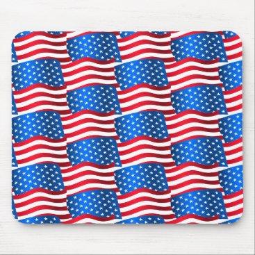 USA Themed USA flags Mouse Pad