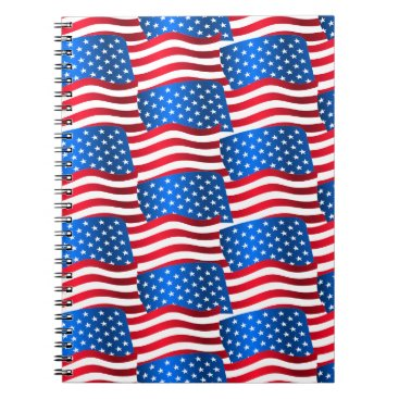 USA Themed USA flags Notebook