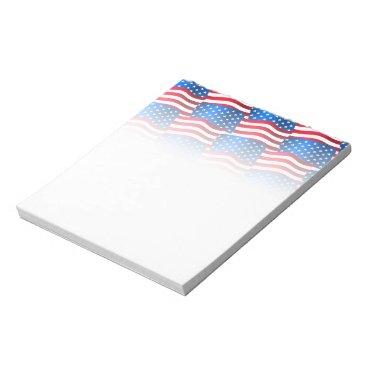 USA Themed USA flags Notepad