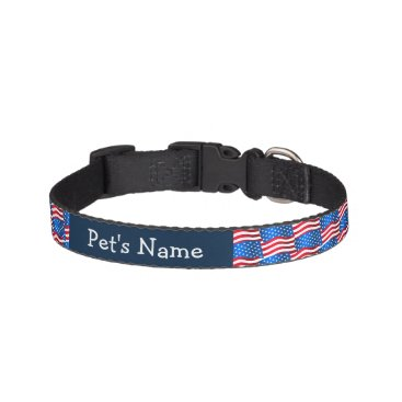 USA Themed USA flags Pet Collar