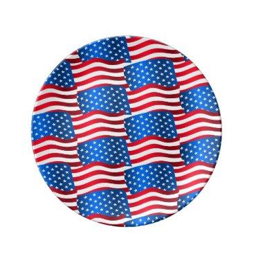 USA Themed USA flags Plate