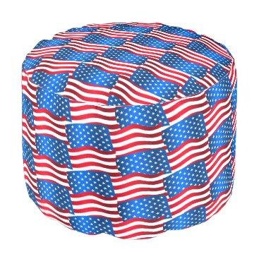 USA Themed USA flags Pouf