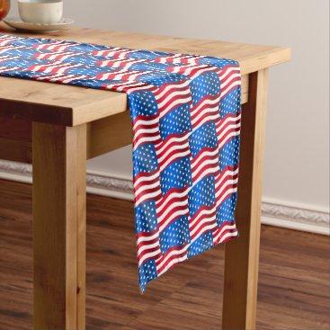 USA Themed USA flags Short Table Runner