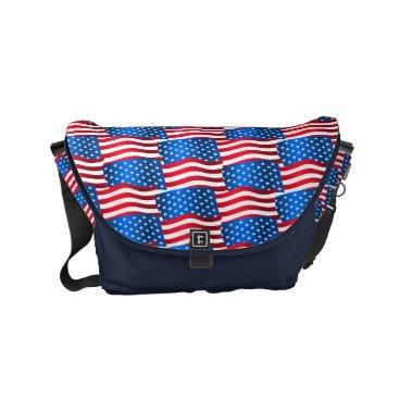 USA Themed USA flags Small Messenger Bag