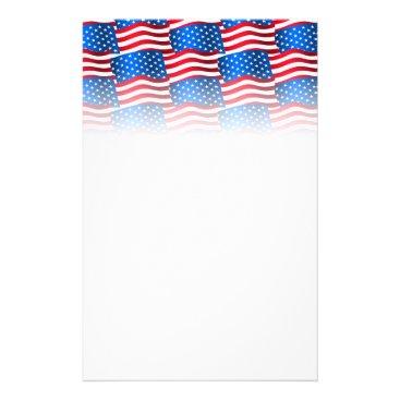 USA Themed USA flags Stationery