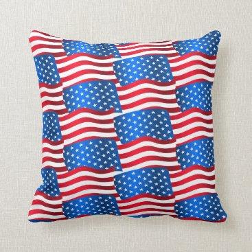 USA Themed USA flags Throw Pillow