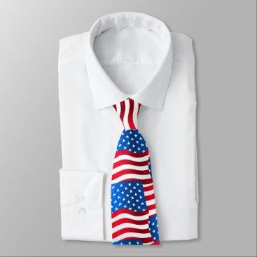 USA Themed USA flags Tie