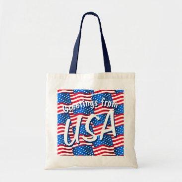 USA Themed USA flags Tote Bag