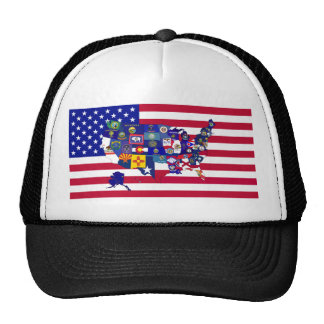 USA Flags Trucker Hat