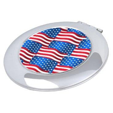 USA Themed USA flags Vanity Mirror