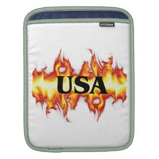 USA FLAMES SLEEVE FOR iPads