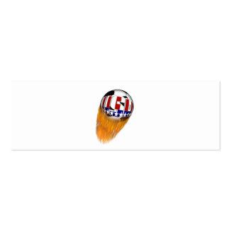 USA Flaming Soccer Ball Business Card