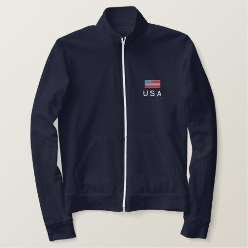 USA Fleece Track Jacket