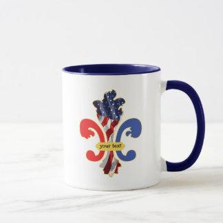 USA Fleur de lis custom design Mug