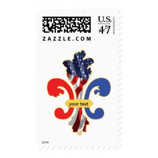 USA Fleur de lis custom design Postage