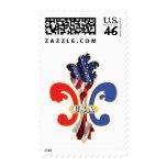 USA Fleur de lis Stamp