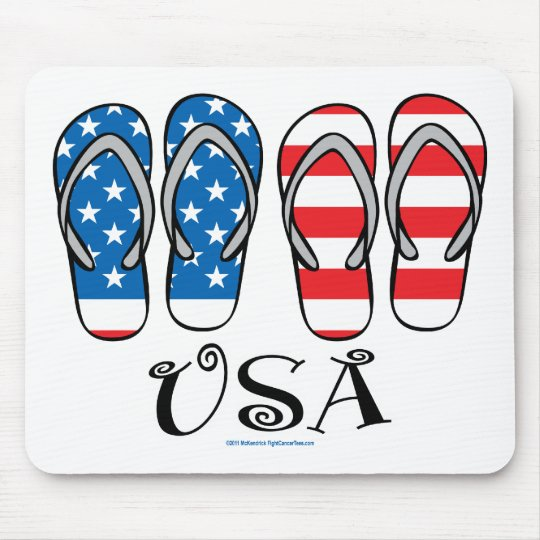 USA Flip Flops Mouse Pad