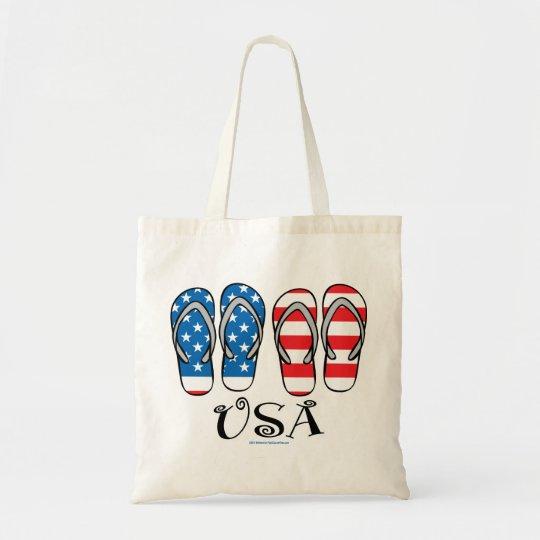 USA Flip Flops Tote Bag