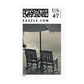 USA, Florida, Celebration, lakeside chairs Postage Stamp