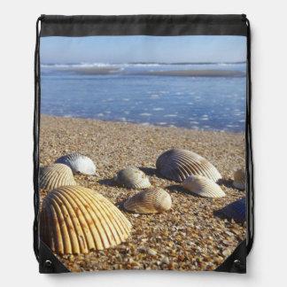 USA, Florida, Coastal Sea Shells Drawstring Backpack