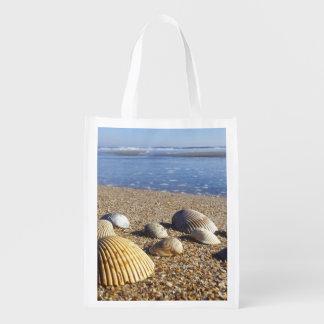 USA, Florida, Coastal Sea Shells Reusable Grocery Bag