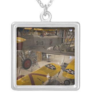 USA, Florida, Florida Panhandle, Pensacola, Square Pendant Necklace