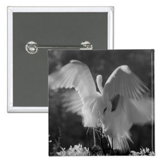 USA, Florida, Great Egret (Ardea alba) infrared 3 Button