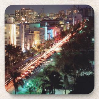 USA, Florida, Miami Beach, Ocean Drive, Art Deco 2 Drink Coaster