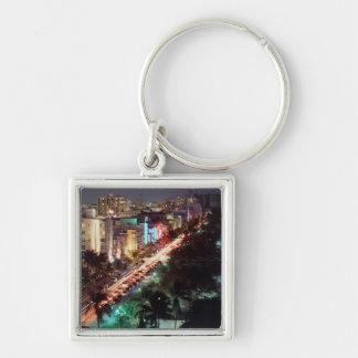 USA, Florida, Miami Beach, Ocean Drive, Art Deco 2 Keychain