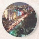 USA, Florida, Miami Beach, Ocean Drive, Art Deco 2 Sandstone Coaster