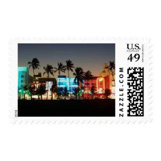 USA, Florida, Miami Beach, Ocean Drive, Art Deco Postage
