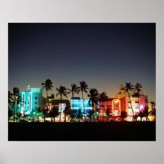 USA, Florida, Miami Beach, Ocean Drive, Art Deco Poster