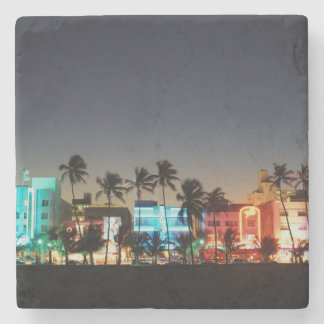 USA, Florida, Miami Beach, Ocean Drive, Art Deco Stone Coaster